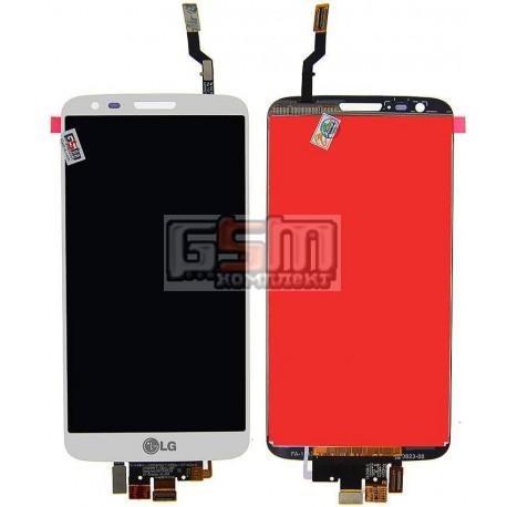 Дисплей для LG G2 D800, G2 D801, G2 D803, LS980, VS980, белый, original (PRC), с сенсорным экраном (дисплейный модуль), 34 pin