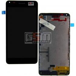 Дисплей для Microsoft (Nokia) 640 Lumia, черный, с сенсорным экраном (дисплейный модуль), с рамкой