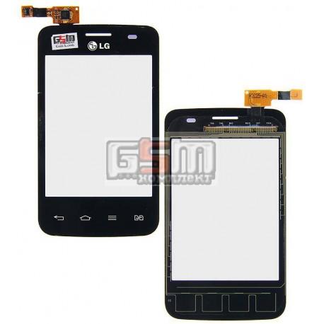 Тачскрин для LG E435 Optimus L3 II, черный