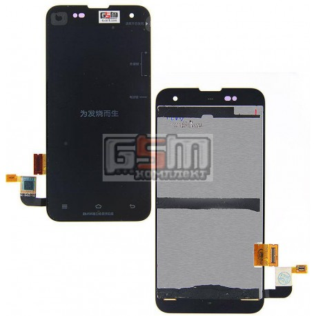 Дисплей Xiaomi Mi2, Mi2S, черный, с сенсорным экраном (дисплейный модуль)
