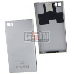 Задняя крышка батареи для Xiaomi Mi3, серебристая