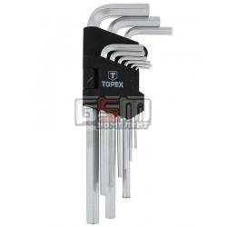 Topex 35D956 набор длинных шестигранных ключей
