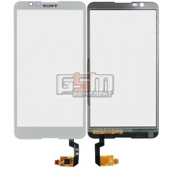 Тачскрин для Sony E2104 Xperia E4, E2105 Xperia E4, E2115 Xperia E4, E2124 Xperia E4, белый