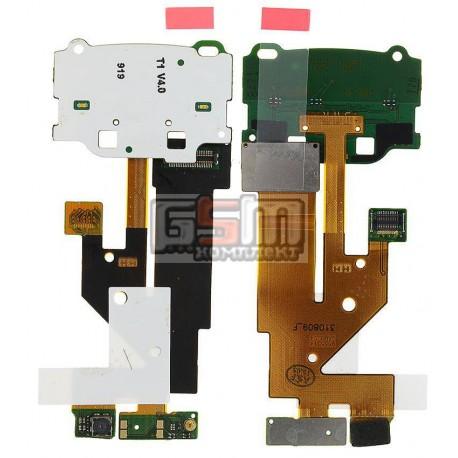 Шлейф для Nokia 6500s, межплатный, с камерой, с компонентами, с верхним клавиатурным модулем