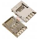 Коннектор SIM-карты для LG G3 D850, G3 D851, G3 D855, G3 LS990 for Sprint, G3 VS985, G3s D722, G3s D724, с коннектором карты памяти
