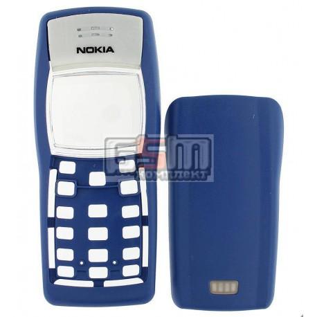 Корпус для Nokia 1100, 1101, синий, копия ААА, передняя и задняя панель