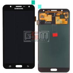 Дисплей для Samsung J700F/DS Galaxy J7, J700H/DS Galaxy J7, J700M/DS Galaxy J7, черный, с сенсорным экраном (дисплейный модуль)