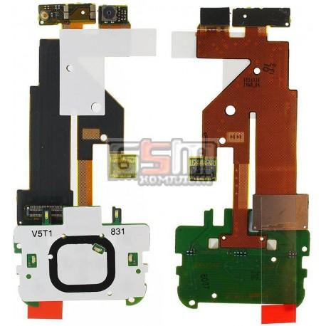 Шлейф для Nokia 5610, копия, межплатный, с камерой, с компонентами, с верхним клавиатурным модулем