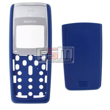 Корпус для Nokia 1110, 1110i, 1112, синий, high-copy, передняя и задняя панель
