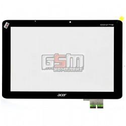 Тачскрин для планшета Acer Iconia Tab A510, Iconia Tab A511, Iconia Tab A700, Iconia Tab A701, черный, #69.10I20.T02/69.10I20.F0