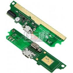 Шлейф для Lenovo A516, коннектора зарядки, с компонентами, (плата зарядки)