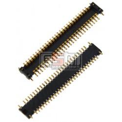 Коннектор дисплея для Samsung I8350 Omnia W, I900, I9000 Galaxy S, I9001 Galaxy S Plus, I9003 Galaxy SL, I9100 Galaxy S2, I9103