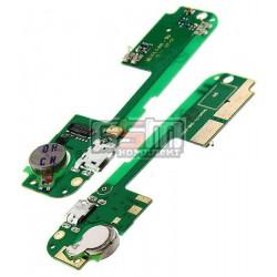 Шлейф для Lenovo S8 S898T, S8 S898T+, коннектора зарядки, микрофона, с компонентами, (плата зарядки)