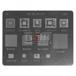BGA-трафарет A422 для китайского телефона, MT6572A, SC6825C, MT6582, MT6166, 13 in 1