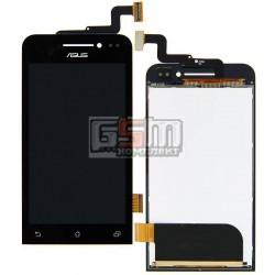 Дисплей для Asus ZenFone 4 (A400CXG), черный, с сенсорным экраном (дисплейный модуль)