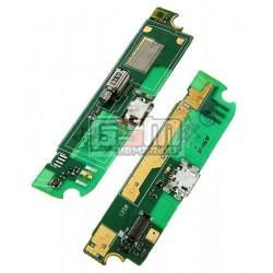 Шлейф для Lenovo S720, коннектора зарядки, микрофона, с компонентами, (плата зарядки)