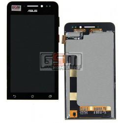 Дисплей для Asus ZenFone 4 (A450CG), черный, с сенсорным экраном (дисплейный модуль)