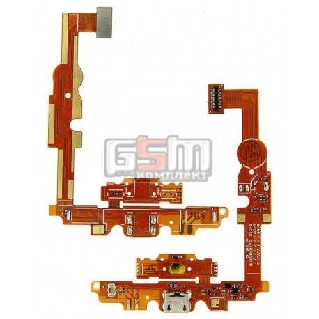 Шлейф для LG E450 Optimus L5x, E460 Optimus L5, коннектора зарядки, с компонентами, с микрофоном