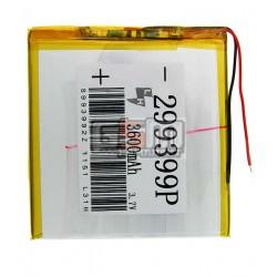 Аккумулятор для китайского планшета универсальный, (3.7V 3600mAh), (99*93*029 мм)