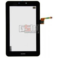 Тачскрин для планшета Huawei MediaPad 7 (S7-701u), черный, 9 pin, (190*118 мм), 7, #HMCF-070-0880-V5/CR6987544GH002G033