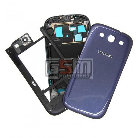 Корпус для Samsung I9300 Galaxy S3, синий