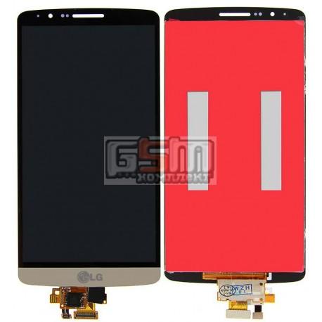 Дисплей для LG G3 D855, G3 D856 Dual, золотистый, original (PRC), с сенсорным экраном (дисплейный модуль)