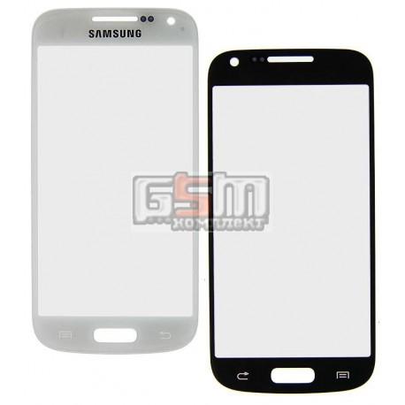 Скло дисплея Samsung I9190 Galaxy S4 mini, I9192 Galaxy S4 Mini Duos, I9195 Galaxy S4 mini, біле