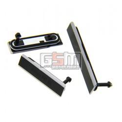 Боковая заглушка для Sony C6902 L39h Xperia Z1, C6903 Xperia Z1, C6906 Xperia Z1, C6943 Xperia Z1, черная, полный комплект