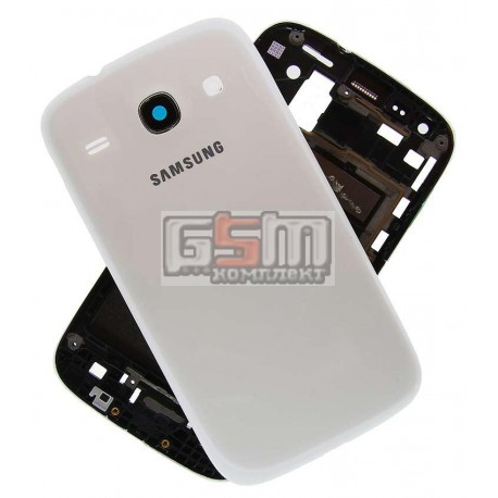 Корпус для Samsung I8260 Galaxy Core, I8262 Galaxy Core, белый