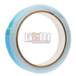 Двухсторонний скотч на вспененной основе, белый, ширина 18мм, толщина 1мм, длина 5м, синий лайнер