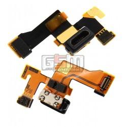 Шлейф для Nokia 1020 Lumia, коннектора зарядки, с компонентами