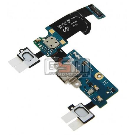 Шлейф для Samsung G800H Galaxy S5 mini, коннектора зарядки, с компонентами