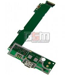 Шлейф для Microsoft (Nokia) 535 Lumia Dual SIM, коннектора зарядки, с микрофоном, (плата зарядки)