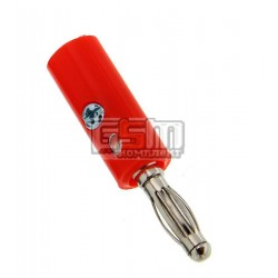 Штекер BANAN пластик красный 1-0271