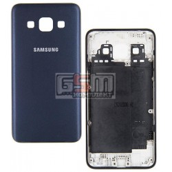 Задняя панель корпуса для Samsung A300F Galaxy A3, A300FU Galaxy A3, A300H Galaxy A3, синяя