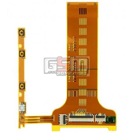 Шлейф для Sony Ericsson LT30p Xperia T, кнопки камери, бокових клавіш, міжплатний, з компонентами