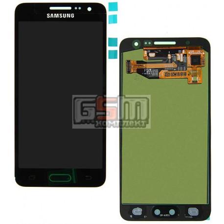 Дисплей для Samsung A300F Galaxy A3, A300FU Galaxy A3, A300H Galaxy A3, черный, с сенсорным экраном (дисплейный модуль)