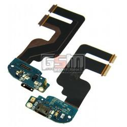 Шлейф для HTC One mini 2, коннектора зарядки, микрофона, с компонентами