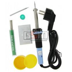Набор ZD-920A, паяльник 30W, припой, канифоль, подставка, запасное жало (Lut0014)