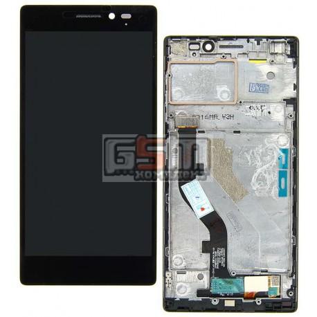 Дисплей для Lenovo Vibe X2, черный, с сенсорным экраном (дисплейный модуль), с рамкой