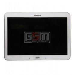 Дисплей для планшета Samsung T530 Galaxy Tab 4 10.1, белый, с сенсорным экраном (дисплейный модуль), с рамкой