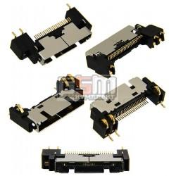 Коннектор зарядки для Pantech GF500, PG3600; Samsung E720, P730, S341i, S342i, X910, Z110, Z500, ZM60, ZV10, ZV30