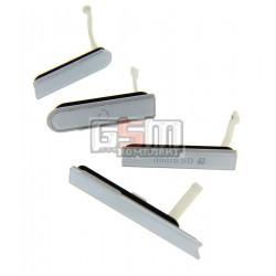 Бічна заглушка для Sony C6602 L36h Xperia Z, C6603 L36i Xperia Z, C6606 L36a Xperia Z, повний комлект, біла