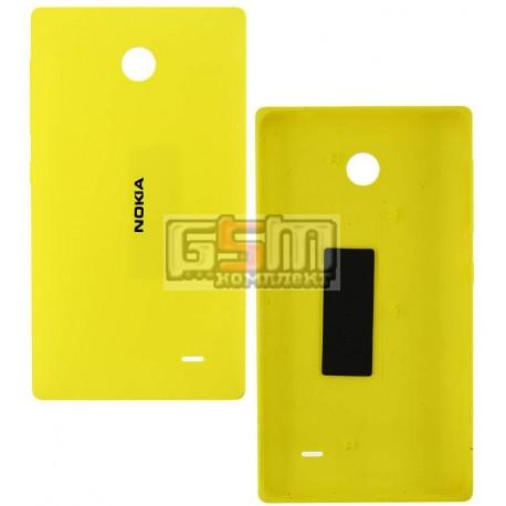 Задняя панель корпуса для Nokia X Dual Sim, желтая, с боковыми кнопками