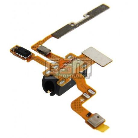 Шлейф для LG E610 Optimus L5, коннектора наушников, боковых клавиш, датчика приближения, с компонентами