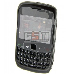 Корпус для Blackberry 8520, черный, копия ААА