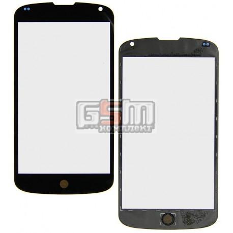 Стекло корпуса для LG E960 Nexus 4, черное