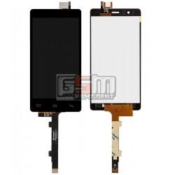Дисплей для BQ Aquaris E5, черный, с сенсорным экраном (дисплейный модуль), 24 pin, #TFT5K0982FPC-A1-E/CT3S1227FPC-A