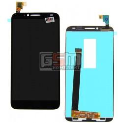 Дисплей для Alcatel One Touch 6037 Idol 2, черный, с сенсорным экраном (дисплейный модуль)