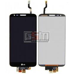 Дисплей для LG G2 D802, G2 D805, черный, original (PRC), с сенсорным экраном (дисплейный модуль), 20 pin